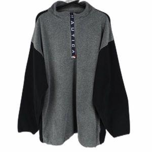 Nautica mens XXL zipper fleece mock neck jacket